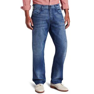 Hudson 36 x 34 Relaxed Straight Button Fly Jeans